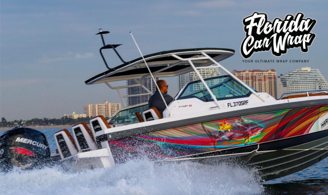 3M Vinyl Boat Wrap Miami