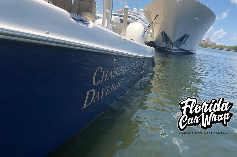 Boat Wraps Fort Lauderdale